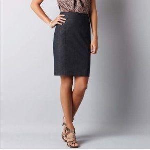 Loft dark denim inspired pencil skirt